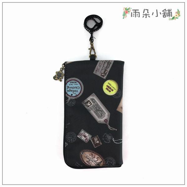 手機套.包包.防水包.雨朵小舖M345-023  6吋就愛滑手機-黑徽章印章14140 funbaobao