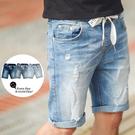 ‧【柒零年代】 ‧短褲,牛仔短褲,彈性褲頭 ‧701淺藍、703中藍、705深藍【共三色】