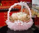 一定要幸福哦~~50支棉花糖+50支麥芽餅+豪華籃組、婚禮小物、結婚宴客、二次進場