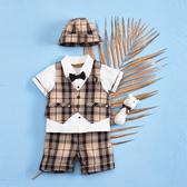 【金安德森】春夏彌月禮盒-紳士風三件式套裝+帥氣小領結