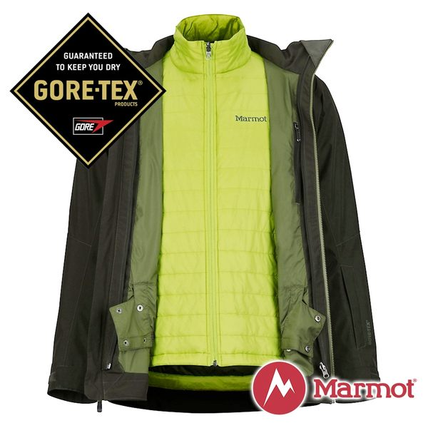 Marmot男GORE-TEX KT二件式外套深墨綠74700-7764戶外登山防風防潑水透氣兩件式外套