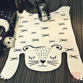 ins北歐老虎造型地墊裝飾地毯寶寶爬行墊游戲墊客廳臥室創意家居夢想巴士