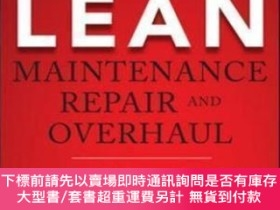 二手書博民逛書店Lean罕見Maintenance Repair And OverhaulY464532 Mandyam Sr