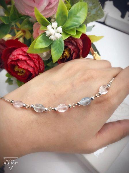 銀色思維》夢幻冰晶 / 冰種摩根設計純銀手鍊