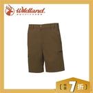 【Wildland 荒野 男 彈性透氣抗UV短褲《深卡其》】0A61352-63/抗UV/透氣/耐磨/輕薄/休閒褲