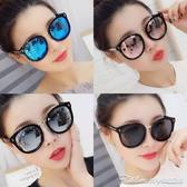 墨鏡新款圓形復古太陽鏡女眼鏡大框圓臉百搭墨鏡防曬防紫外線旅遊 阿卡娜