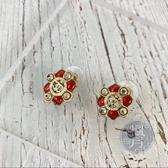 BRAND楓月 CHANEL 香奈兒 紅彩 綴飾 珍珠 耳環 飾品