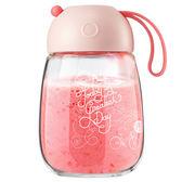 玻璃杯女學生水杯子帶蓋便攜泡茶杯可愛果汁杯創意隨手杯茶杯【卡米優品】