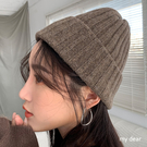 MD韓-反摺粗坑條針織毛帽-8色【09190052】