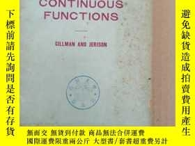 二手書博民逛書店rings罕見of continuous functions(P894)Y173412