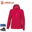 【Wildland 荒野 女 輕量天鵝絨防風保暖外套《桃紅》】0A72913/夾克/運動外套/抗風防潑水
