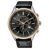 CITIZEN Eco-Drive GENTS光動能競速運動皮帶腕錶/AT2144-11E