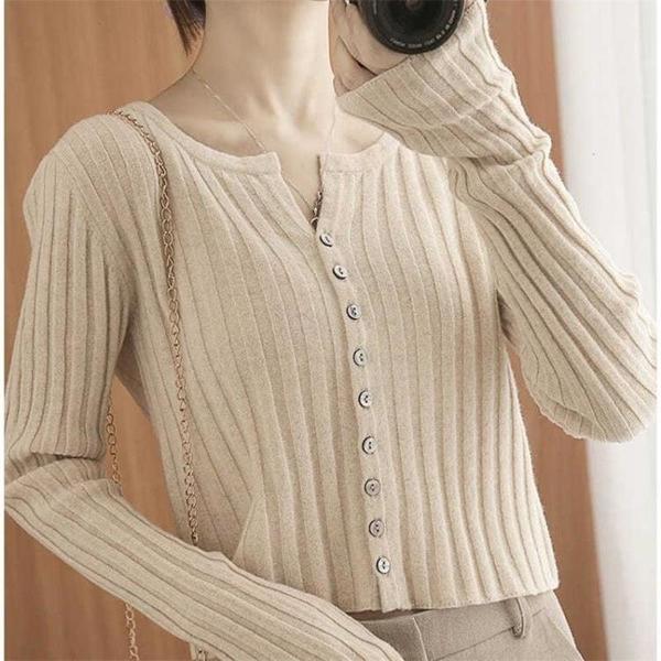 針織開衫長袖針織開衫女季寬鬆薄款小外套毛衣顯瘦短款上衣女【2021新春特惠】