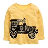 台灣現貨童裝 男童 中童 長袖上衣 長T 恐龍車車-05款亮黃色【94241】