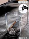 垃圾桶北歐風垃圾桶家用客廳創意臥室簡約輕奢廢紙簍透明廚房大號網紅 晶彩