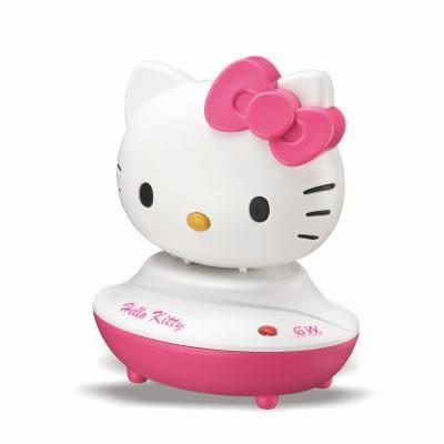 GW Hello Kitty 水玻璃分離式無線除濕機組 兩件組 1除濕機、1還原座