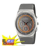 [104美國直購] 男士手錶 Skagen Men s SKW6135 Melbye Quartz/Chronograph Titanium Watch With Metal Mesh Band $5747