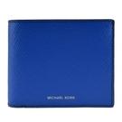 【南紡購物中心】MICHAEL KORS COOPER防刮男用對開短夾(附證件夾)-藍
