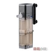 濾水器格池魚缸過濾器內置三合一水族箱潛水泵過濾泵迷你靜音增氧 交換禮物