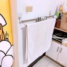 雙桿毛巾架(90cm) 無痕掛勾~只可宅配 不銹鋼 浴室收納 超黏 凹凸牆面可貼 台灣製造熊好貼