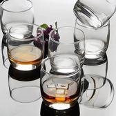 6只裝圓形威士忌酒杯洋酒杯玻璃杯啤酒杯烈酒杯水杯