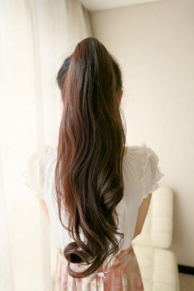 假髮【WHH002】捲馬尾五卡夾 髮片 高絲溫卡絲