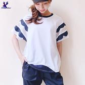 【春夏新品】American Bluedeer - 撞色拼接上衣 二色 春秋新款