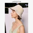 拉菲斯汀遮陽帽女夏季時尚防曬帽戶外沙灘太陽帽子洋氣薄款漁夫帽 滿天星