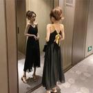 夏裝流行長裙子仙女超仙甜美智熏法式冷淡風露背吊帶連衣裙女 麥琪精品屋