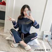 夏套裝冰絲韓版薄款寬鬆兩件套分體
