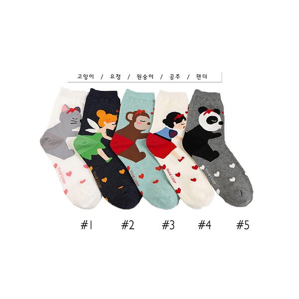韓國造型短襪-多款任選 (SOCK-058-C)