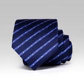 易文領帶男正裝商務藍色黑色領帶8cm領帶結婚新郎休閒領帶 范思蓮恩