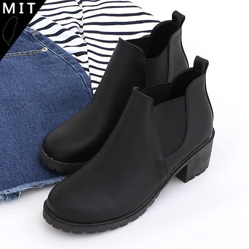 女款 切爾西伸縮素面百搭 高跟短靴 MIT製造 59鞋廊