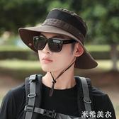 戶外釣魚登山帽子男士夏天遮陽帽沙灘防曬帽太陽帽夏季漁夫帽男 米希美衣