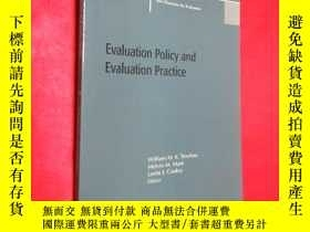 二手書博民逛書店Evaluation罕見Policy and Evaluatio