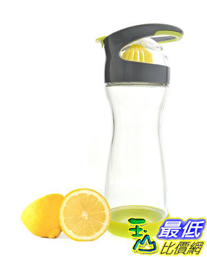 [103 美國直購 ShopUSA] Full Circle Wherever Water Lemon Infuser 20-ounce 檸檬杯 玻璃瓶 $1048