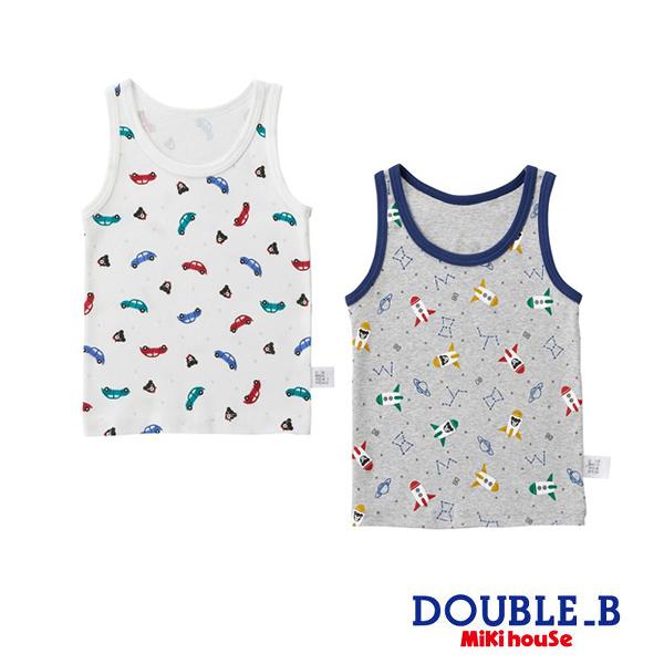 DOUBLE_B 汽車&火箭男童背心內衣(2入組)