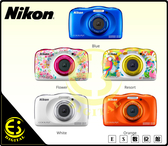 ES數位 全新 Nikon Coolplx W150 防水相機 數位相機 藍 防水10米 防寒 防撞 防塵 浮淺 游泳 店保