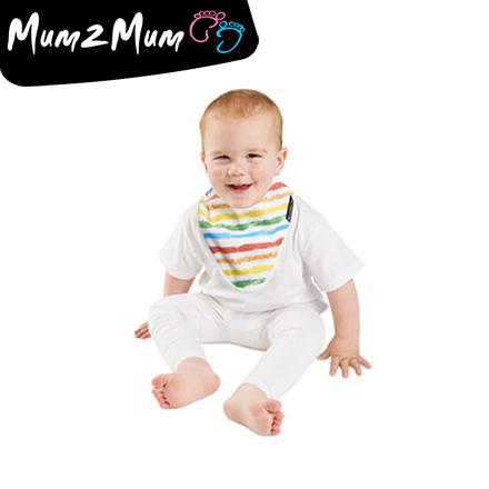 Mum 2 Mum 雙面竹纖維棉機能口水巾圍兜-彩紅/星星【佳兒園婦幼館】