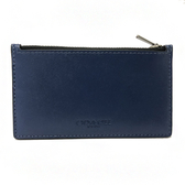 【COACH】多卡夾層男款中性名片夾零錢包(漸層藍)
