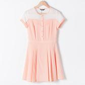 【MASTINA】縷空修身洋裝-粉 網路獨家洋裝