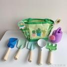 沙灘玩具 出口德國兒童挖沙鏟沙灘玩具九件套決明子玩沙戶外工具手提袋套裝