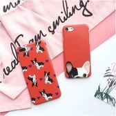 iPhone手機殼 可掛繩 韓國可愛法國鬥牛犬 磨砂軟殼 蘋果iPhone7/iPhone6手機殼