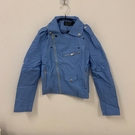 韓版顯瘦修身基本款短版皮衣(XL號/121-7359)