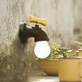 水龍頭 LED 小夜燈 復古造型夜燈 聲控感應 USB充電 床頭燈/壁貼燈【RS678】