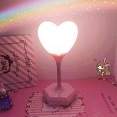 (好康免運)檯燈新生兒小夜燈嬰兒喂奶護眼led充電愛心少女節能可愛床頭臺燈禮物