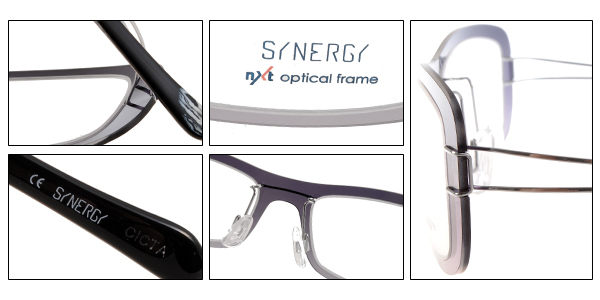 SYNERGY 光學眼鏡 SY3611 C129 (漸層黑) NXT 防彈材質 極簡結構 平光鏡框 # 金橘眼鏡