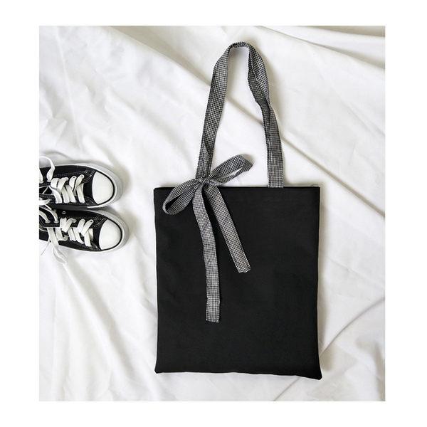 帆布袋 手提包 帆布包 手提袋 環保購物袋--單肩/拉鏈【DE5211】 BOBI  08/24