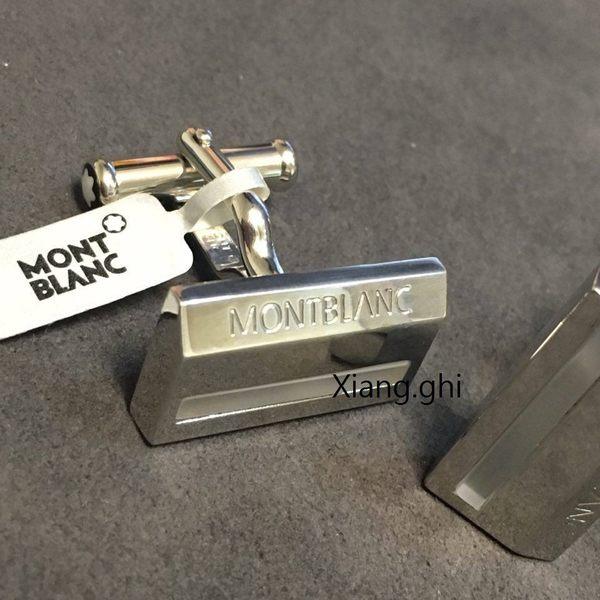 萬寶龍MONTBLANC-袖扣-方型字母LOGO