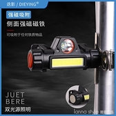 頭燈強光充電超亮led頭戴式礦燈多功能小手電筒夜釣魚家用疝氣燈 新品全館85折